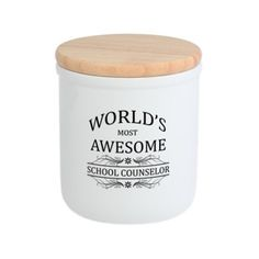 Worlds Most Awesome School Counselor Cookie Jar on CafePress.com