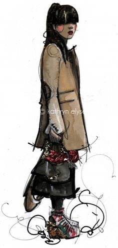Rock chic illustration