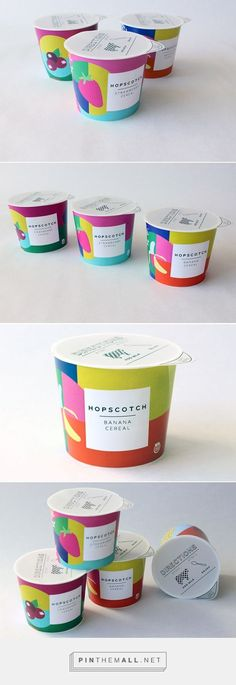 HOPSCOTCH - To-go cereal package design by Katherine Covell