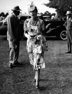 Mrs.Barbara Hutton,attends the 20 Goal Finals for polo at Southampton, NY, 1934.