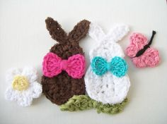 Crochet Bunny (patterns for flowers too)