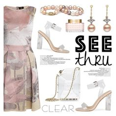 """""""It's All Clear Now"""" by pearlparadise ❤ liked on Polyvore featuring Ekaterina Kukhareva, Chanel, Valentino, clear, contestentry, pearljewelry, Seethru and pearlparadise"""