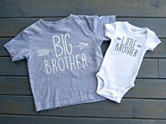 Your little misters will look adorable in this a Big Brother Little Brother set! This set includes one Big Brother shirt and one Little Brother shirt…