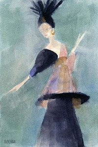 Painting - Inspired By Paul Poiret Fashion Illustration Art Print by Beverly Brown Prints