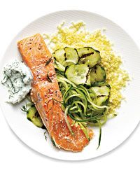 Sous Vide Salmon with Cucumbers - Salmon from Food & Wine