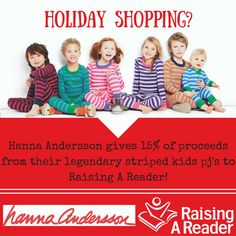 Support Raising A Reader when you shop at Hanna Andersson!