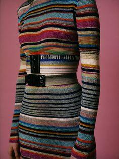 Multicolored knit dress