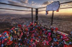 Seoul tower, Korea - padlocks with messages, © Dave Laws
