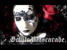 Gothic Masquerade MakeUp Transformationl | by: Medousa Normando