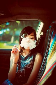 I hate smoke tricks it's hard to think of all that weed not being inhaled! But for a pic this nice the sacrifice can be made! Smoke Tricks, Vape Tricks, Weed Girls, 420 Girls, Vape Girls, Smoke Weed, Women Smoking, Girl Smoking, Smoking Room