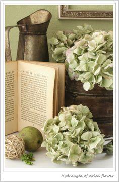 美的な押し花・カリグラフィー・花生活 Green Cream, Pink And Green, Romantic Cottage, Heaven Sent, Shabby, Green Garden, Green Flowers, Country Chic, Hydrangea