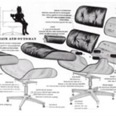 Eames Lounge Chair Diagram In Case You Want To Make Your Own Furniture Chair Want Wooden Furniture Plans Woodworking Furniture Plans Furniture