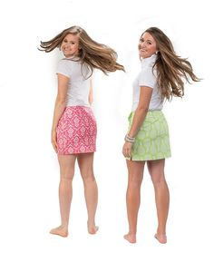 "The ""Abby"" skort (left) and The ""Penelope"" skort (right)"