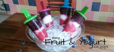 Fruit and Yogurt Ice Pop Recipe – Smart Summer Snack Hack #sponsored