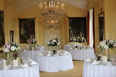 Tables are set up for another special wedding weekend here at Luttrellstown Castle Resort