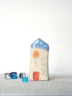 Art de la miniature JOY mon petit Clay par VitezArtGlassDesign