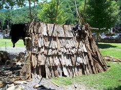 Cherokee Indians Trail Of Tears | Cherokee Native American shelter made from tree bark | Flickr - Photo ...