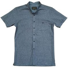 The Woz is a short sleeve version of a band collar western work shirt.  This woven popcorn stitch is light and airy, while the heather-ed indigo color keeps it looking tough.  A go to shirt on hot days, whether your in the garage, at the park, or enjoying a ball game.  #menswear #dapper #style #men #menswearblogger #menswearblog #menswearstyle #mensstyle #styleguide #mensstyles #mensfashion #mensfashionpost #mensfashionblog  #fashion #fashionblogger #fashionable #fashionblog #localdesigner