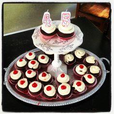 Cheerwine cupcakes