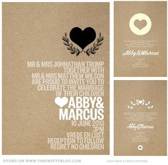 """love the kraft paper and clean modern layout"" Wedding Invitation Inspiration, Modern Wedding Invitations, Wedding Stationary, Wedding Cards, Diy Wedding, Wedding Inspiration, Wedding Checklist Timeline, Wedding Branding, Layout"