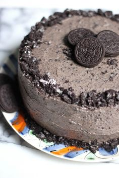 Triple Layer Chocolate Oreo Cake