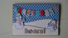 Lawn Fawn - Making Frosty Friends with coordinating dies, Quinn's ABCs with coordination dies _ cheerful card by Hilde _ Hoera! | Flickr - Photo Sharing!