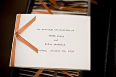I love this whole wedding, but especially the typewriter theme!
