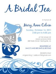 Your place to buy and sell all things handmade Tea Party Invitations, Shower Invitations, Invite, Angela King, Cup Design, Special Events, Shower Ideas, Tea Cups, Bridal Shower