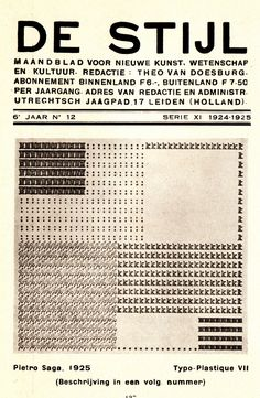 furtho:    Cover of De Stijl magazine 1925 (via here)
