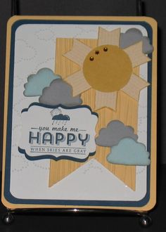 Stampin up See Ya Later Stamp set. Cup cake builder punch