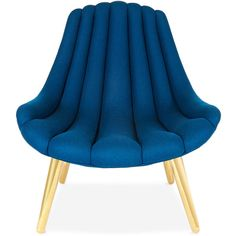 Jonathan Adler Brigitte Navy Lounge Chair ($2,250) ❤ liked on Polyvore featuring home, furniture, chairs, accent chairs, jonathan adler, jonathan adler furniture, navy accent chair, dark blue chair and navy chair