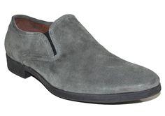 John Varvatos Collection Mens Shoes Nickel Suede Size 11.5 #JohnVarvatos #LoafersSlipOns