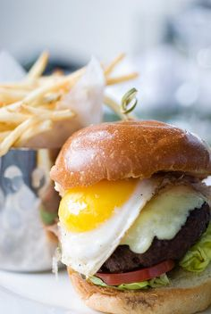 The Farmer (burger with fried duck egg)