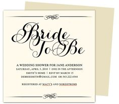 Mandee Bridal Shower Template