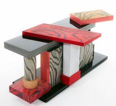 "Sottsass ""Tartar"" sideboard 1985. Funky Furniture, Table Furniture, Furniture Design, Unusual Furniture, Conception Memphis, Memphis Furniture, Bauhaus, Table Sofa, Console Table"