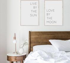 IMPRIMIBLE | 2 posters | Vive el día, ama en la noche | Lamina dormitorio | Frases motivadoras | Decoracion cabecero | Frases inspiradoras