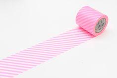 Stripe Shocking Pink 50mm Washi Masking Tape