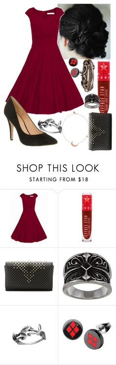 """❤️"" by lumos-bandtrash ❤ liked on Polyvore featuring WithChic, Melinda Maria, Jeffree Star, Christian Louboutin and Chrome Hearts"