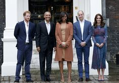 The Obamas have arrived at Kensington Palace tonight for an informal dinner with Prince William, Kate Middleton and Prince Harry, just hours after the U.S. President's controversial intervention in the Brexit debate