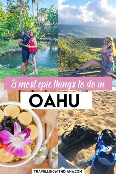 8 Most Epic Things to do in Oahu. This is the ultimate Oahu travel guide with all the best things to do in Oahu and tons of tips to enjoy your stay on the island What to do, how to get around and where to eat in Oahu. Hawaii Travel Guide, Maui Travel, Jamaica Travel, Nightlife Travel, Mexico Travel, Travel Usa, Travel Packing, Japan Travel, Italy Travel