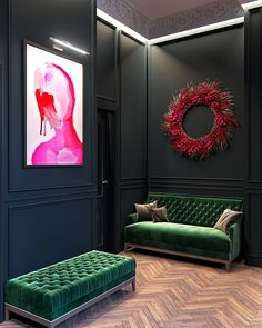 Maison Noire is a duplex apartment for a French family combined a great love of authors to the traditional style and modern solutions. Dark Interiors, Colorful Interiors, Decor Interior Design, Interior Decorating, Decorating Ideas, Decoration Design, Decorating Websites, Room Interior, Decor Ideas