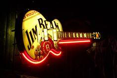 Jim Beam Guitar Sign