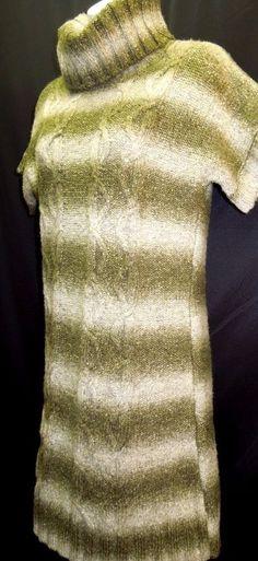 SUPER Cute Sweater Dress! Hunter Green Ribbed #Turtleneck #SweaterDress #WomensDress #WomensFashion