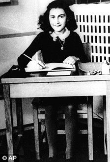 Love this photo of Anne writing.