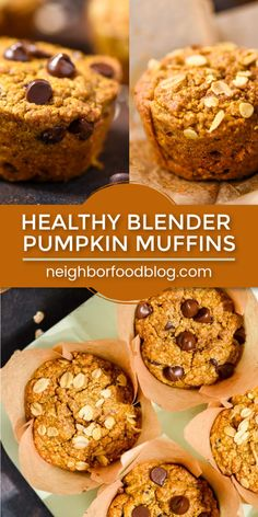 Healthy Blender Pumpkin Muffins These easy blender Pumpkin Muffins are naturally gluten free, tender, fluffy, and filled with pumpkin spice! Click through to grab this healthy pumpkin muffin recipe today! Oat Muffins Healthy, Healthy Pumpkin Bread, Pumpkin Muffin Recipes, Gluten Free Pumpkin, Vegan Pumpkin, Pumpkin Oatmeal Muffins, Pumpkin Chocolate Chip Muffins, All You Need Is, Cookies Gluten Free