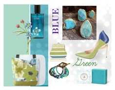 """""""Blue/Green"""" by hammertolace ❤ liked on Polyvore featuring Ruthie Davis and teamchallenge5"""
