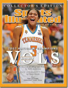 Candace Parker - coached by Pat Summit, winner of 8 NCAA Women's Championships