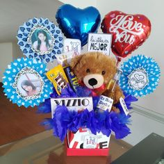 Diy Garden Furniture, Candy Bouquet, Balloon Decorations, Boyfriend Gifts, Ideas Para, Diy Gifts, Diy And Crafts, Balloons, Baby Shower