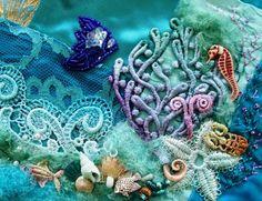 Uder the Sea Crazy Quilt by Nicki Lee / Raviolee Dreams