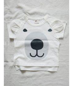 Bear Ear Short Sleeve T-shirt - - Lala #kid #kids #kidsfashion #instafashion #kidsclothing #kidswear #kidsstyle #kidslook #girllook #momlook #boylook #cute #beautiful #cutekid #baby #girl #girls #fashion #Lala #Kfashion #Kfashion4kids #kkami